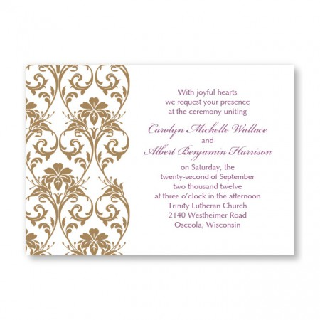 Lavish Border Horizontal Wedding Invitations