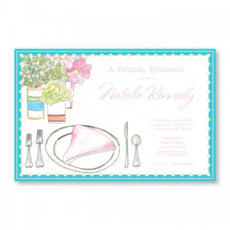 Lovely Placesetting Invitations