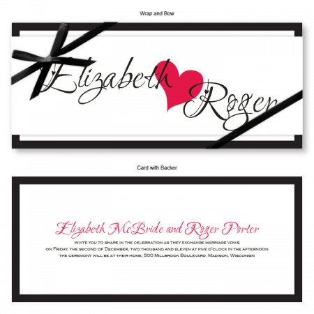 Lovers Delight Heart Wedding Invitations