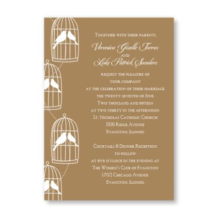 Loving Birds Wedding Invitations