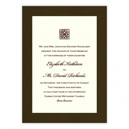 Madison 2-Layer Thermography Wedding Invitations