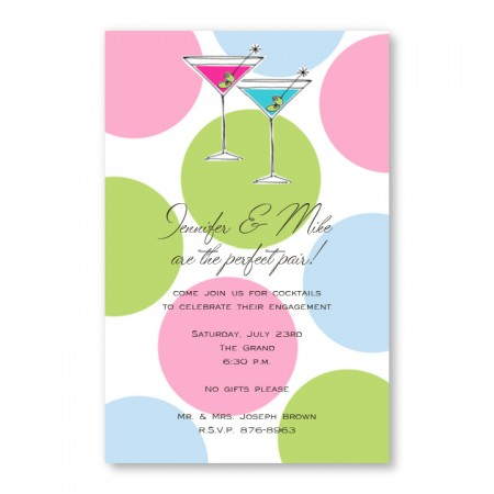 Martini Dot Invitations