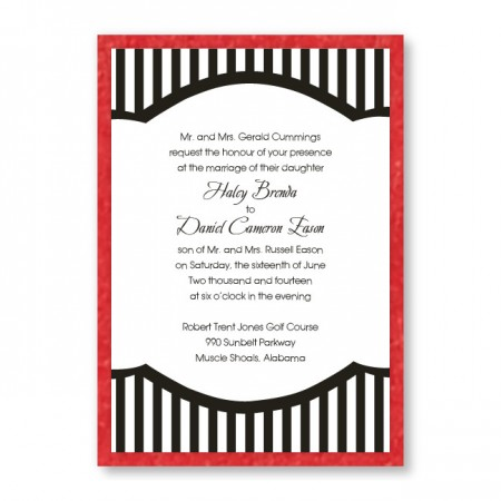 Mayfair Stripes Wedding Invitations