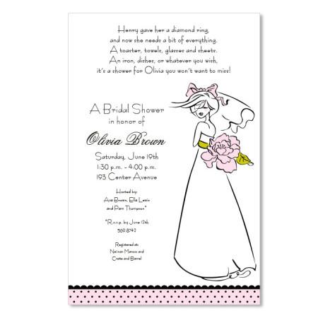Mod Bride Invitations