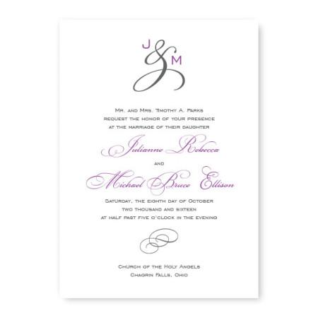 Monogram Classic Wedding Invitations