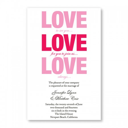 Love Invitations SAMPLE