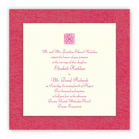 Nancy 2-Layer Square Thermography Wedding Invitations