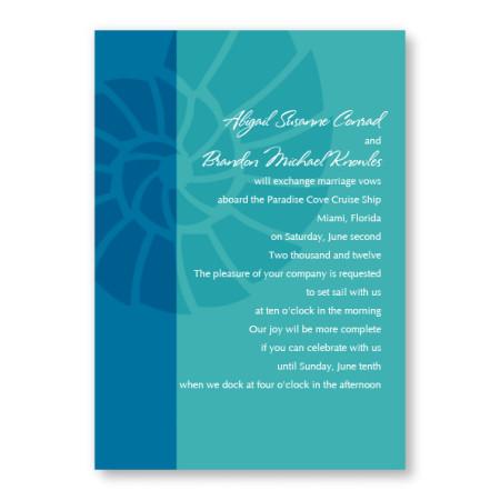 Nautilus Shell Beach Invitations