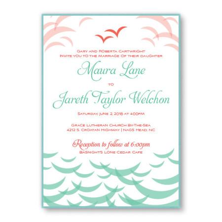 Ocean 2-Layer Beach Wedding Invitations