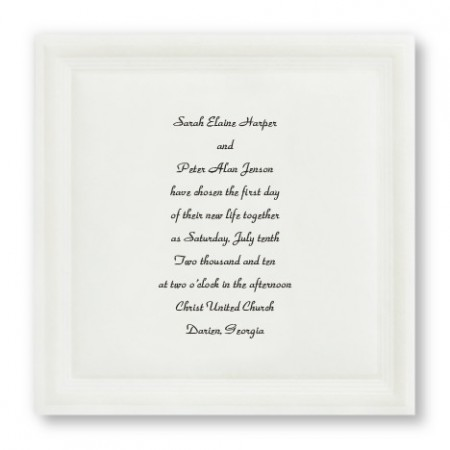 Pearl Elegance Square Wedding Invitations