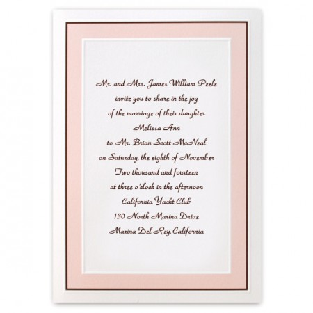 Perfect Pastel Classic Wedding Invitations