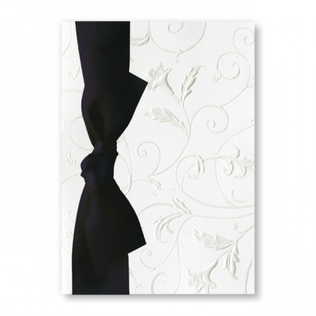 Polished Perfection White Wedding Invitations