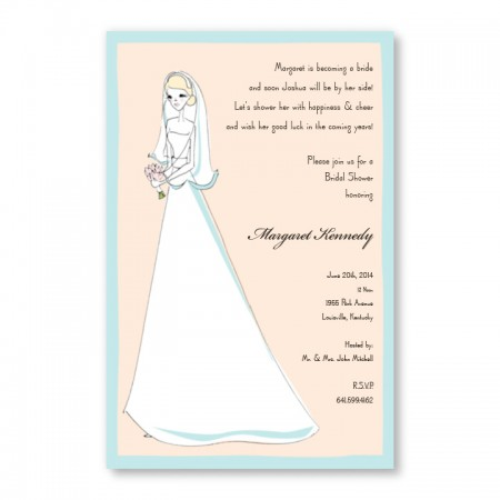 Pretty Bride Invitations