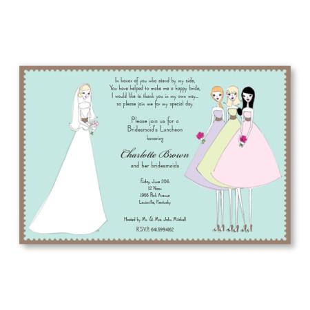 Pretty Bridesmaids Invitations