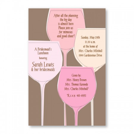 Pretty Glasses Invitations