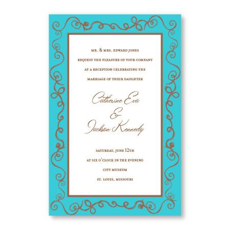 Pretty Twisty Wedding Invitations