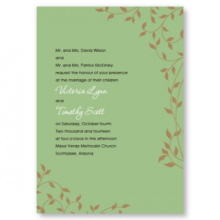 Pretty Vines Wedding Invitations