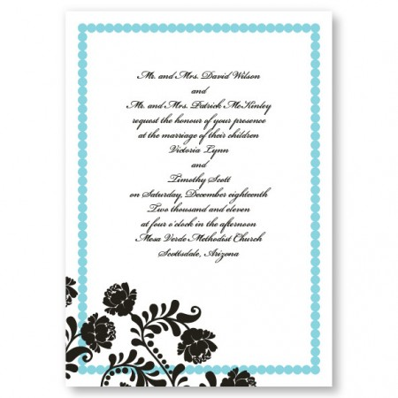 Primrose Dots Floral Wedding Invitations