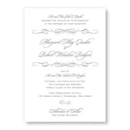 Romance Modern Wedding Invitations