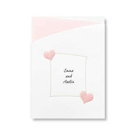 Romantic Hearts Wedding Invitations