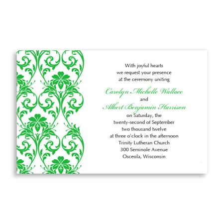 Romantic Vines Letterpress Wedding Invitations