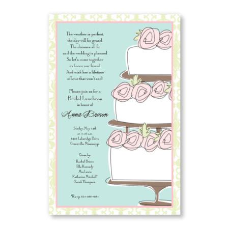 Rose Cake Invitations