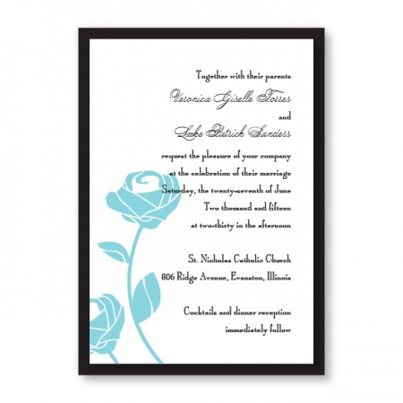 Roses are Forever Wedding Invitations