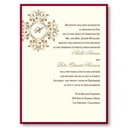 Roxanne 2-Layer Monogram Wedding Invitations