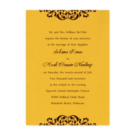 Sabrina Scroll Wedding Invitations