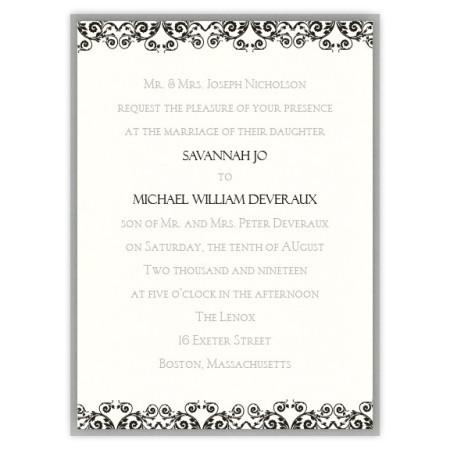 Savannah 2-Layer Scroll Wedding Invitations