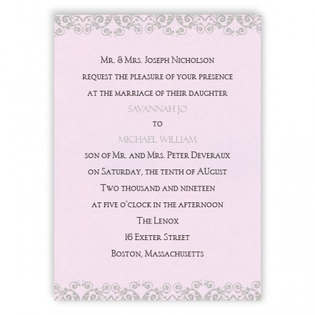 Savannah Scroll Wedding Invitations