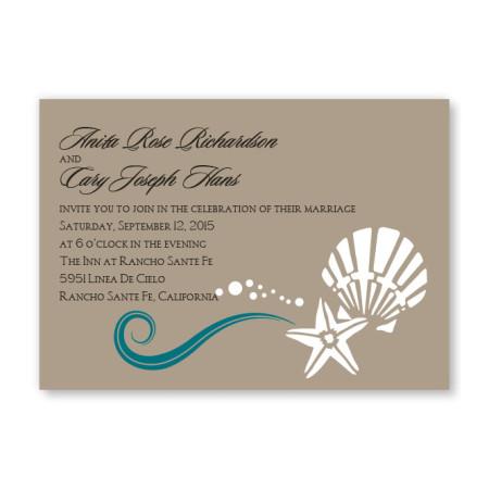 Seashell Love Wedding Invitations