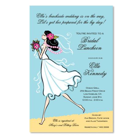 Seashore Bride Invitations