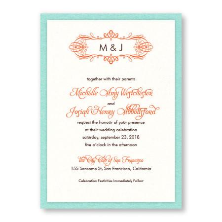 Shannon 2-Layer Monogram Wedding Invitations