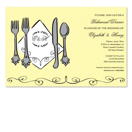 Silverware Invitations