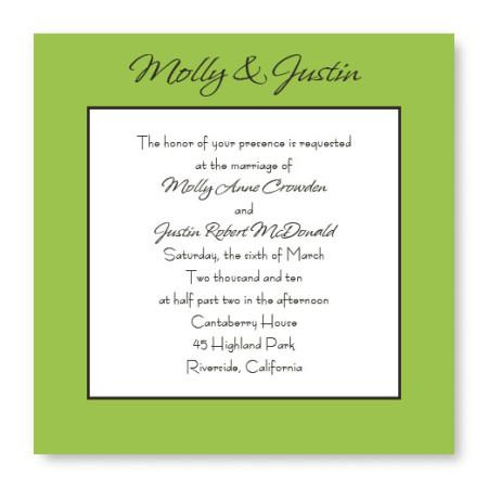 Simply Love Classic Wedding Invitations