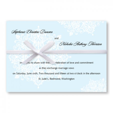 Snowflake Winter Wedding Invitations