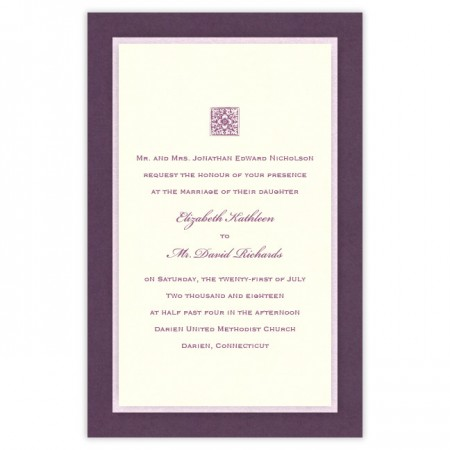 Sophie 3-Layer Thermography Wedding Invitations