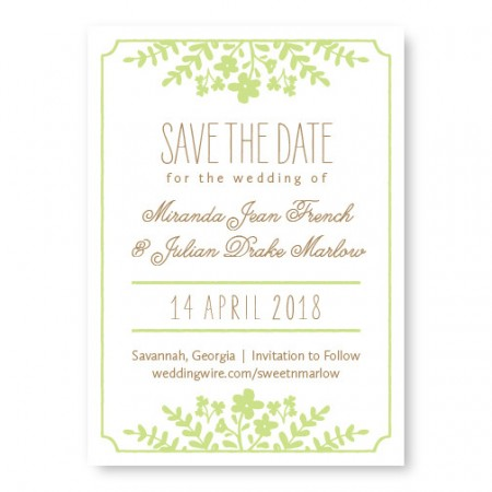 Spring Flora Save The Date Cards