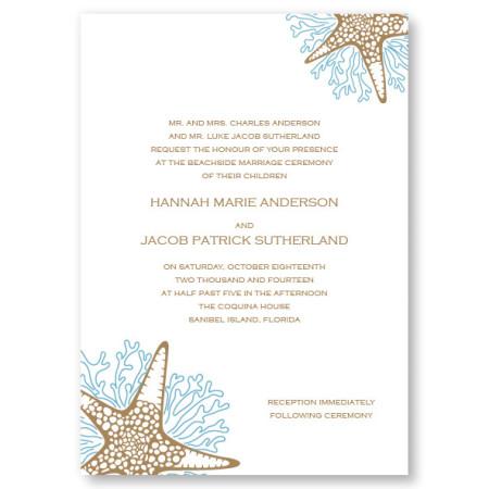 Starfish Beach Wedding Invitations