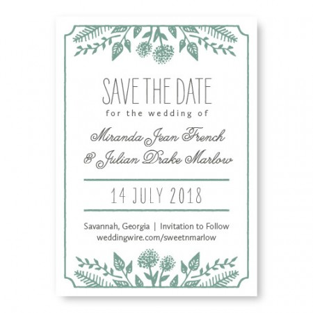Summer Flora Save The Date Cards