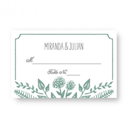 Summer Flora Seating Cards