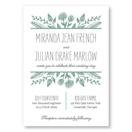 Summer Flora Wedding Invitations