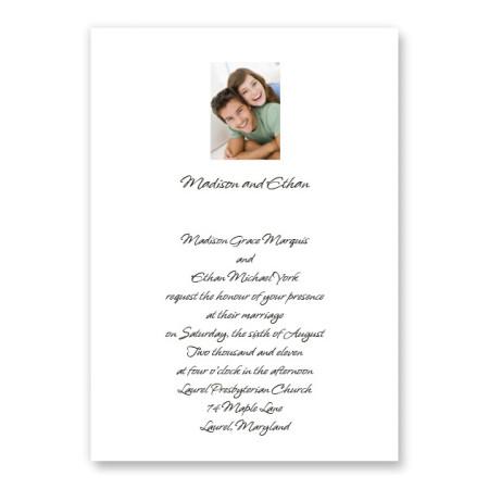 Sweet Memories Photo Wedding Invitations