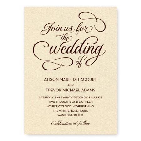 Sweet Script Unique Wedding Invitations