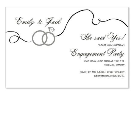 Swirl Rings Invitations