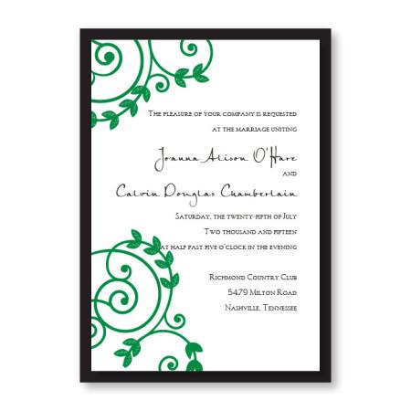 Symbol of Love Vine Wedding Invitations