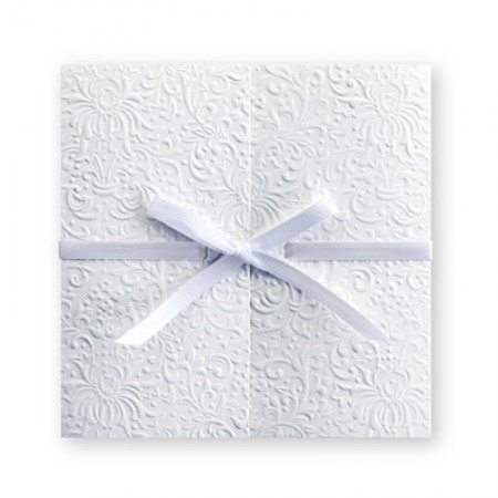 The Gift of Love White Wedding Invitations