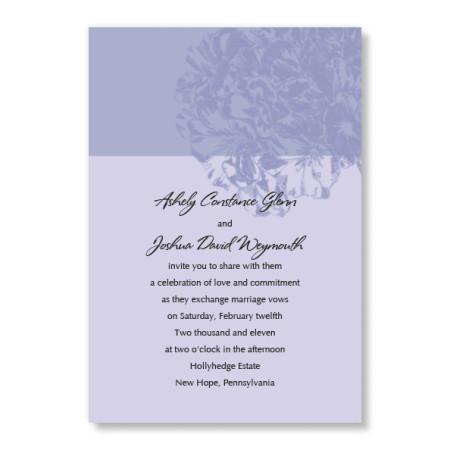 Two Tone Purple Hydrangea Wedding Invitations