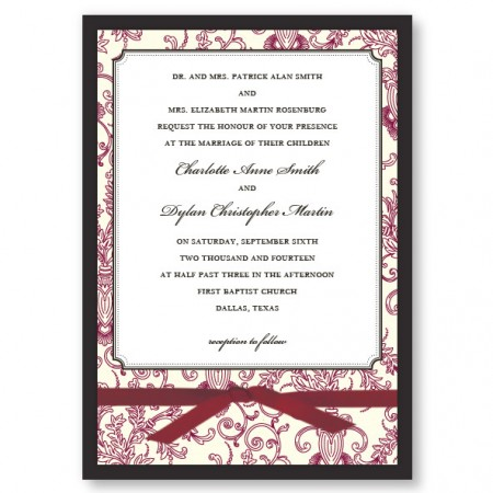 Canterbury Wedding Invitations